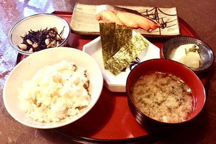 鮭定食セット